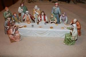 home interior figurines home interior quot supper quot jesus figurines