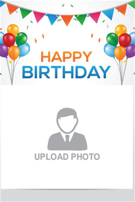 Hello Happy Birthday Card Template by Happy Birthday Greeting Cards With Photo Birthday