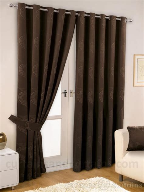 dark brown drapes brown living room curtain ideas modern house