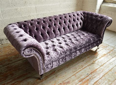 velvet chesterfield sofa sale aubergine glitz velvet 3 seater chesterfield sofa abode