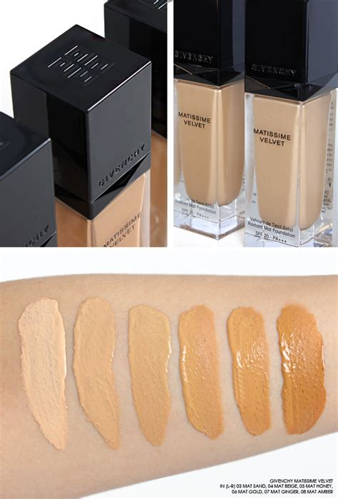 Foundation Givenchy givenchy matissime foundation swatches escentual s