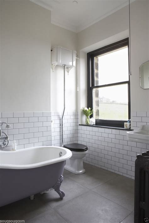 edwardian bathrooms ideas new york gloss white flat metro victorian subway brick