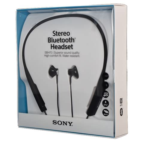 Sony Stereo Bluetooth Headset Sbh70 sony sbh70 nfc multipoint stereo bluetooth headset water resistant earphones ebay