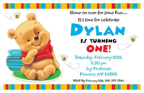 Winnie The Pooh Birthday Invitations Templates by Printable Birthday Invitations For Boys Or