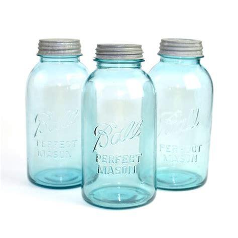 light blue jars blue ideal jar bail cl lid rubber seal