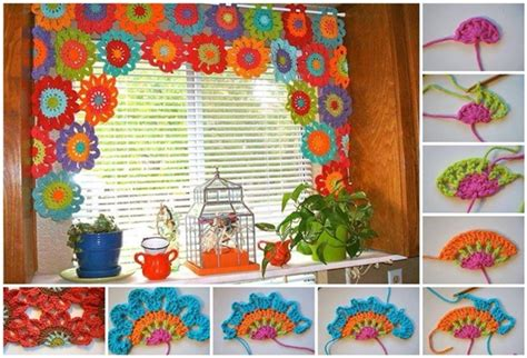 flower pattern curtains bright and beautiful homemade crochet flower curtain