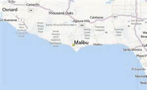 malibu california on map malibu california map