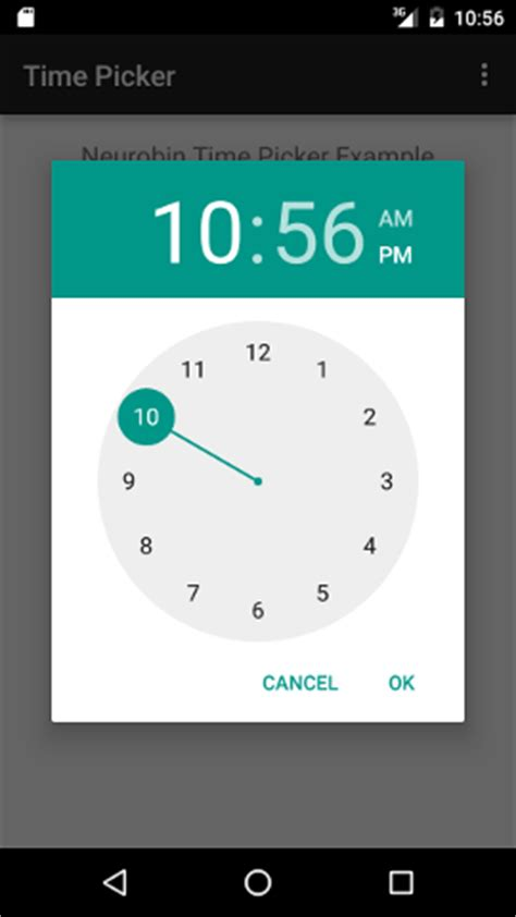 android timepicker android tutorials neurobin