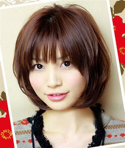 hairstyles chin length with bangs cute chin length bob haircuts with bangs styles time