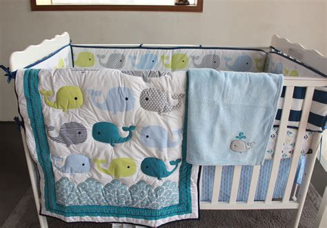 Whale Baby Bedding Sets Selling Baby Bedding Set Embroidery 3d Whale Baby Crib Bedding Set 100 Cotton