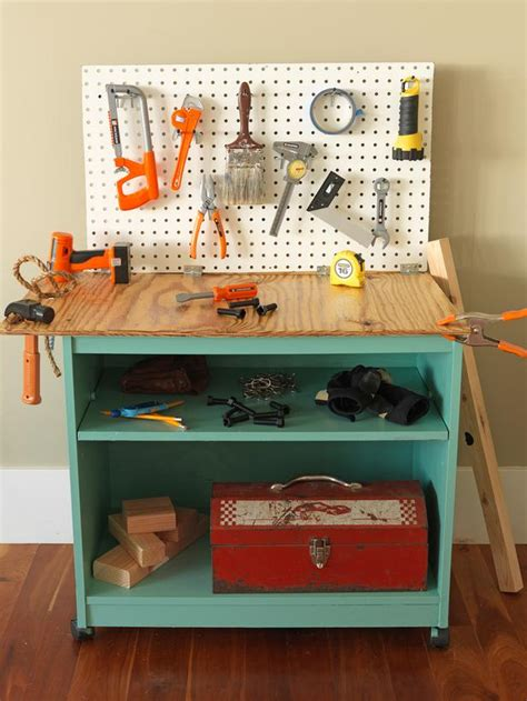 diy toy bench play workbench completed projects pinterest