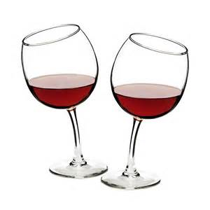 Wine Glass Tipsy Wine Glasses Funny Glass Goblets Uncommongoods