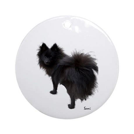 pomeranian ornament black pomeranian ornament by samisart