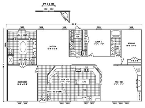 4 bedroom double wide trailers 1998 clayton mobile home floor plans