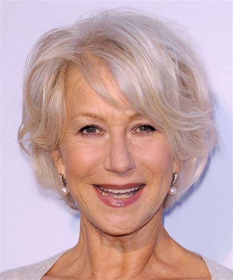 platinum hair on 50 year old helen mirren hairstyles in 2018