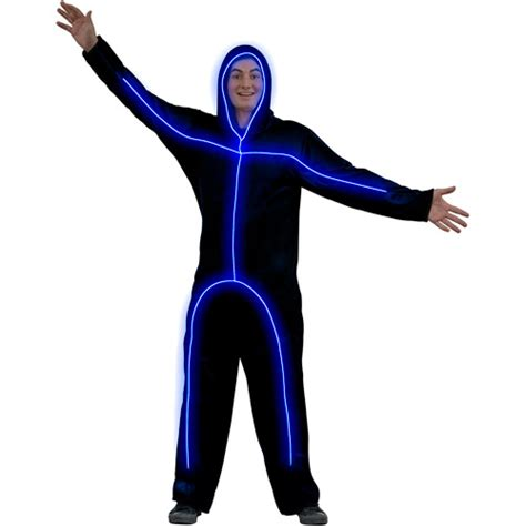 Light Up Stick Figure Costume light up blue stick figure costume