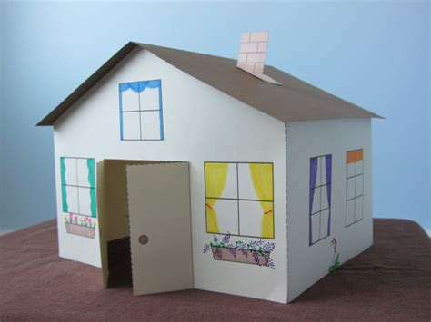 Paper House Craft - 3d paper house craft for instant template