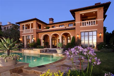 Mediterranean Style Homes | picture your life in tuscany in a mediterranean style home