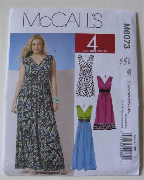 sewing pattern etsy mccall s sewing pattern m6073 plus size by sewandsewpatterns