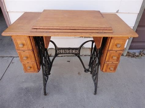 antique singer sewing machine in cabinet antique singer oak treadle sewing machine cabinet