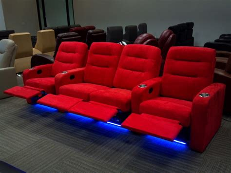 seatcraft buccaneer red row   seats home theater