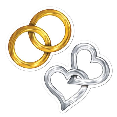 Hochzeit Wanddeko by Wanddeko Hochzeit Ringe Und Herzen 10 Tlg G 252 Nstig