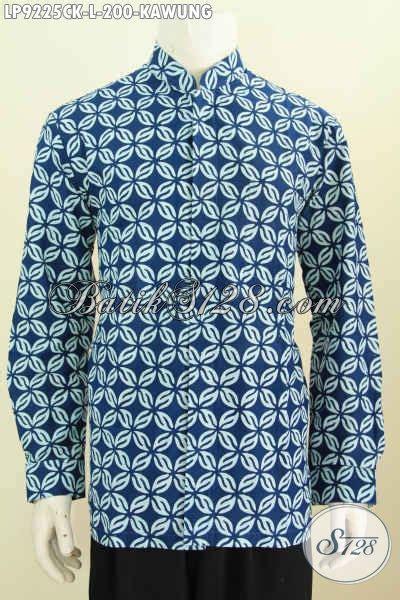 Kemeja Batik Kawung Grompol Printing Lengan Panjang kemeja batik klasik kawung pakaian batik halus nan