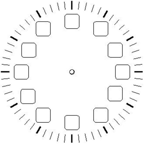 printable clock face no numbers blank clock faces
