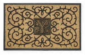 personalized coir doormat personalized coir medallion monogram doormat by whitehall