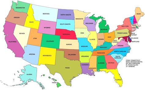 usa map with states labeled map of united states labeled world maps