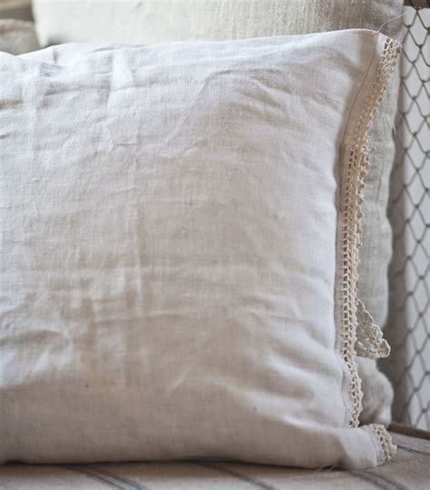 pillows from vintage linens cedar hill farmhouse