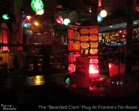 frankie s tiki room las vegas a bearded clam mug sits on a table at frankie s tiki room in vegas fuzzy navels