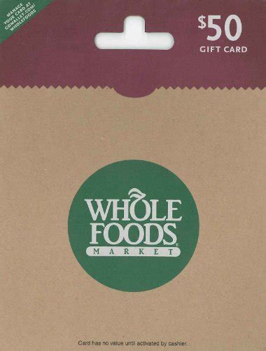 Market Basket Gift Card Balance - whole foods market 50 shop giftcards