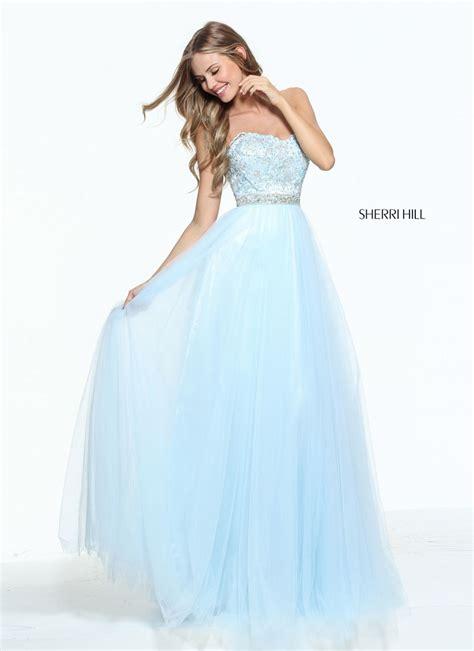 sherri hill light blue dress sherri hill 51045 prom dress prom gown 51045