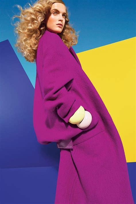 fashion color purple blue light blue yellow are harmonious colour