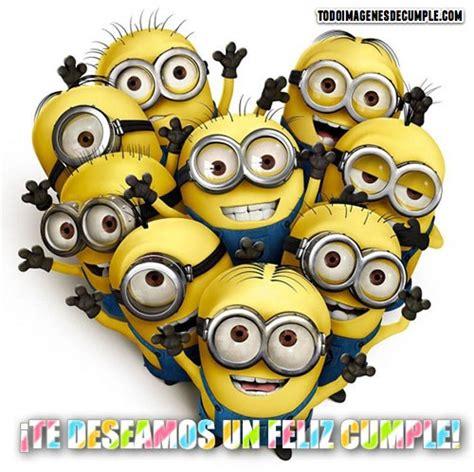 imagenes de minions que digan feliz cumpleaños im 225 genes de feliz cumplea 241 os con los minions