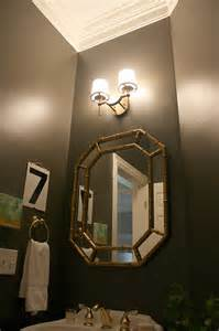 Powder Room Lighting Our Powder Room Makeover From Damask To Dark Emily A Clark