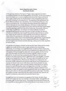 Titanic Essay by Finley Harnett Media Studies Portfolio Titanic Binary Opposition Essay Analysis