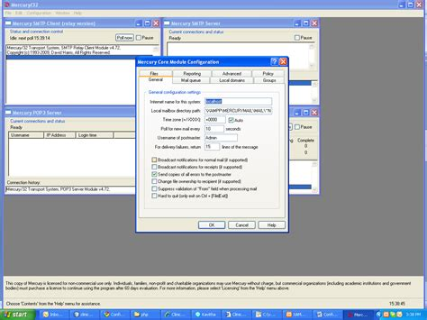 configure xp mercury mail spreading knol configuring mercury mail server in windows