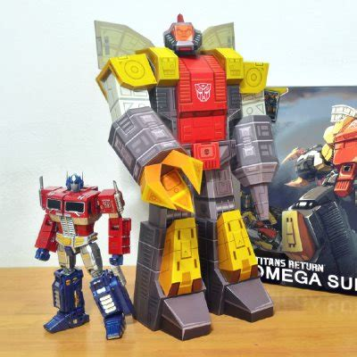 omega supreme gus santome usually creates mini paper toys but in this