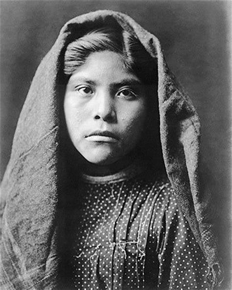 pima indian girl edward s. curtis portrait photo print for