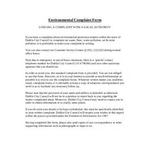 Report Writing About Environment by Environment Complaint Letter 9 Free Word Pdf Documents Free Premium Templates