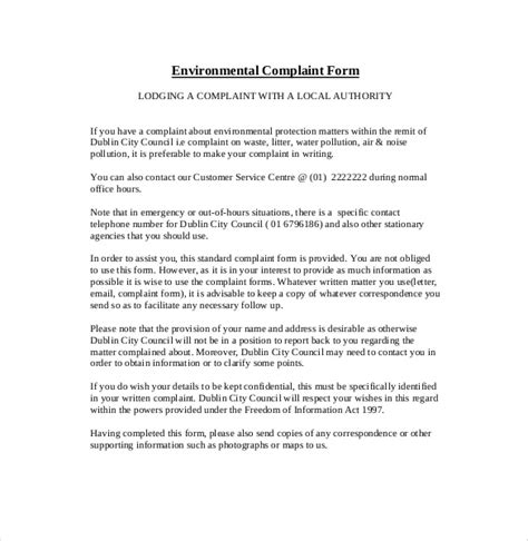 Complaint Letter For Council How To Write A Formal Complaint Letter The Council Compudocs Us