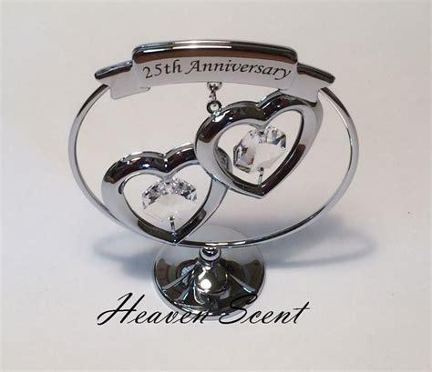 25th silver wedding anniversary gift ideas with swarovski crystals sp248 ebay