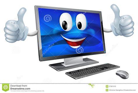 mascotte d ordinateur de bureau photo stock image 27067410