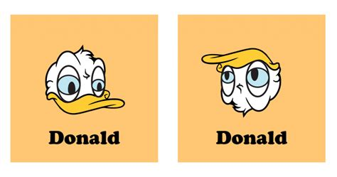 donald duck upside down is donald trump donald trump