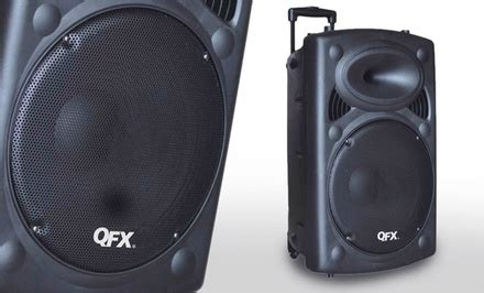 Speaker Portable Gmc by Qfx Portable Bluetooth Tailgate Speaker With 12 Quot Woofer