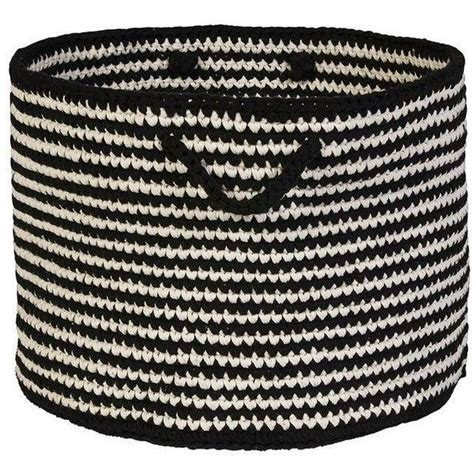 black and white woven basket found on polyvore top home products pinterest home white