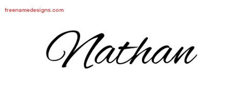cursive name tattoo designs nathan free graphic free
