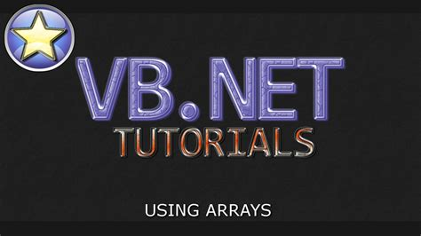 youtube tutorial vb net vb net tutorial for beginners using arrays visual basic